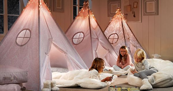 kids rooms ideas for girls | cute teepees, great for sleepover parties!!