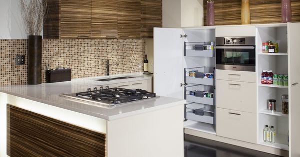Zebrano high gloss with beige modern kitchens for Kitchen ideas zebrano