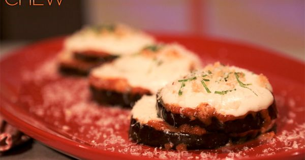 Eggplant stacks! Dig into this tasty Italian treat! Recipe from the Chew!