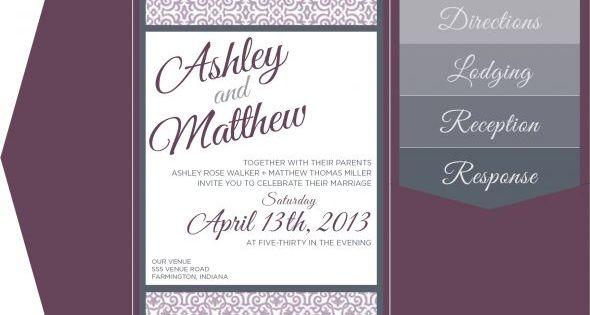Colors - Digital Invite Mockup - Pocketfolds & Inserts : wedding cards