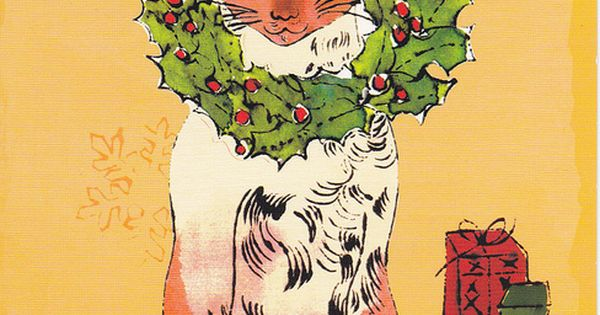 Andy Warhol Cat Christmas Cards