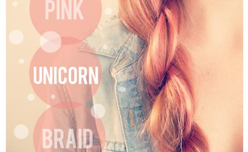 Pink unicorn braid (rope braid). Pretty!