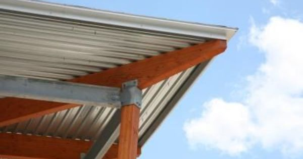 How To Install Corrugated Roof Panels Under A Deck Hunker Roof Panels Metal Roof Patio Roof