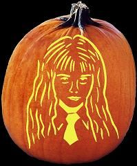 Hermione Granger Harry Potter Pumpkin Carving Pattern Jack O Lantern Harry Potter Pumpkin Harry Potter Pumpkin Carving Pumpkin Carving