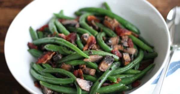 Brittany's Pantry: Green Beans W/Mushrooms & Bacon: Hold the cream ...