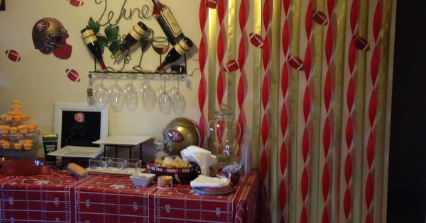 Sf 49er party decor are you ready for some football for 49ers bathroom decor