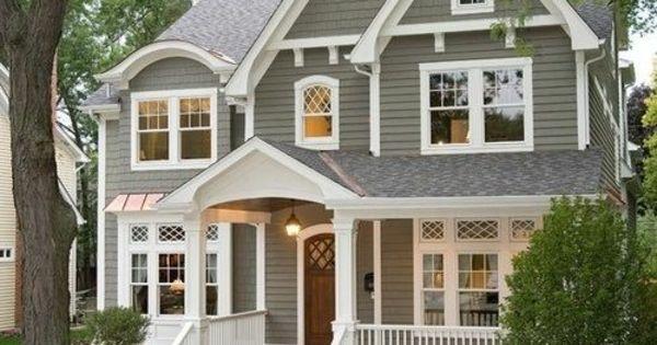 hausfassade farbe grau einfamilienhaus vorgarten gestalten wohnen pinterest haus und veranden. Black Bedroom Furniture Sets. Home Design Ideas