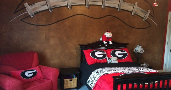 football wall georgia bulldogs room dawgs pinterest