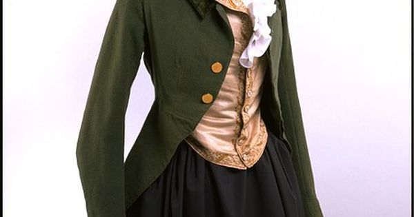 Riding habit jacket - front view (c. 1780-1790). There is no info