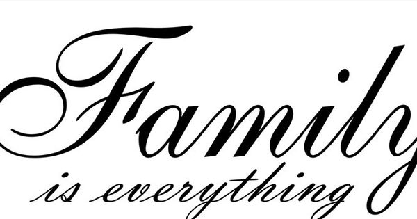 Word Family Font | Family is Everything Cursive vinyl wall ...  Word Family Fon...