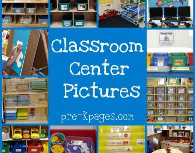 GREAT preschool classroom center ideas