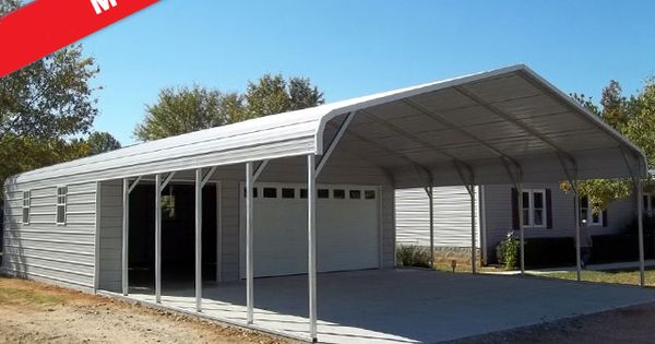 Carports with storage are just as easy for us to design as for Carport shop combo