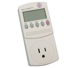 Kill A Watt Electricity Usage Monitor Qvc Com Electricity