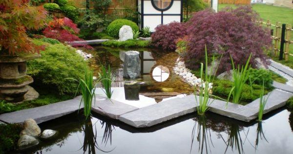 Vintage Gartengestaltung mit Steinen und Wasser kleiner japanischer Garten Japanischer Garten Pinterest Kleiner japanischer Garten Gartengestaltung mit