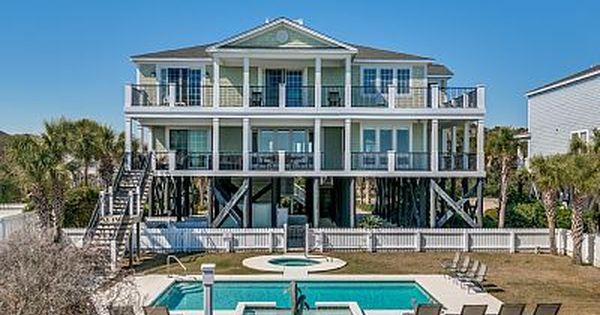 Atlantis Luxury Oceanfront W Huge Pool Hot Tub By Luxury Beach Rentals Long Bay Estates Beach Houses For Rent Myrtle Beach Vacation Rentals Luxury Beach