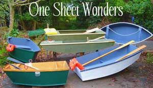Boats Can Be Built Using One Sheet Of Plywood Building A One Sheet Boat And Many Free Plan Links Boat Building Plans Wood Boat Plans Boat Plans