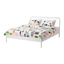 Ikea Nesttun White Luroy Bed Frame Bed Frame Double King Size