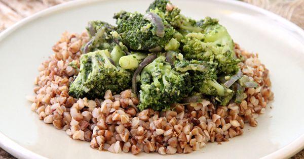 Pesto Broccoli with Whole Grains   Recept
