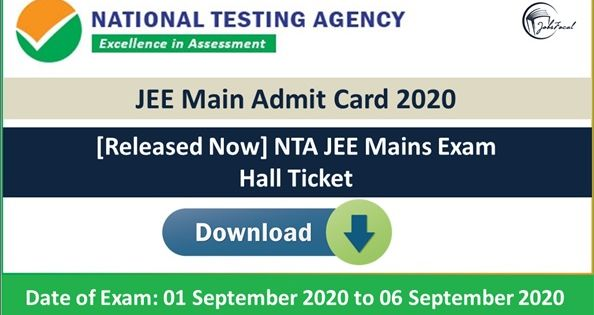 Jee Main Admit Card 2020 21 Released Now Nta Jee Mains Exam Hall Ticket In 2020 Maine Cards Exam