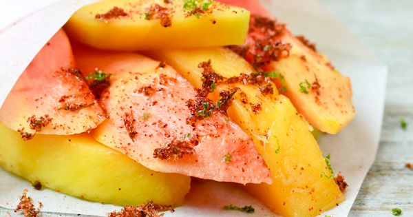CHILE LIME MANGO AND PAPAYA - A SPICY PERSPECTIVE. Grab the recipe