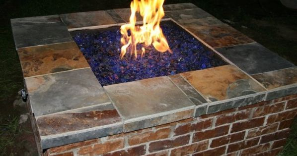 Diy firepit great way to use up old bricks plants for Uses for old bricks