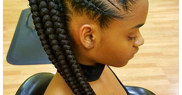 Feed In Braids Corn Rows Ponytail Black Hair