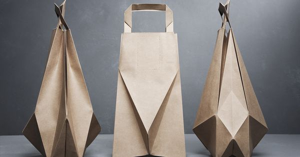Get folding! Who says brown bags are boring? Origami paper bags