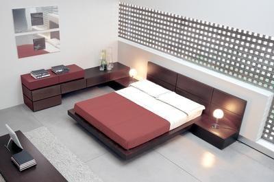 Minimalist Model Low Height Bed Modern Bedroom Furniture
