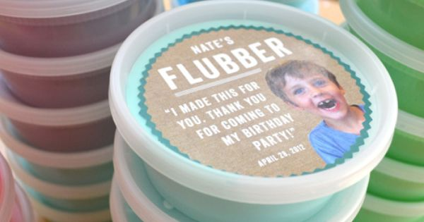 Flubber recipe... so much fun! Cool party favor idea