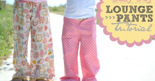Lounge Pants tutorial - good first sewing project (includes how to make