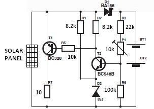 Solar Charger Circuitdiagram Electronics Electricals Solar Charger Circuit Diagram Solar Panels