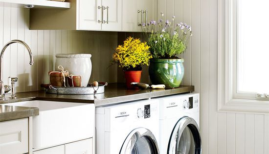 4 Laundry Room Ideas for your Coastal home via Style at Home