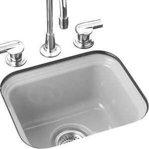 Kohler Northland 15 X 12 3 8 X 7 5 8 In Single Bowl Bar Sink In White K6589 U 0 Bar Sink Undermount Bar Sink Sink