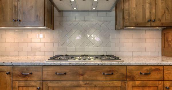 Kitchen Backsplash Matte And Gloss Subway Tiles