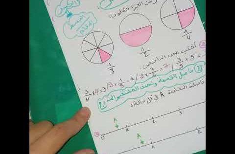 الدرس 18 حاصل القسمة و الكسر نصف المستقيم المدرج رياضيات 1 متوسط Youtube Math Bullet Journal Journal
