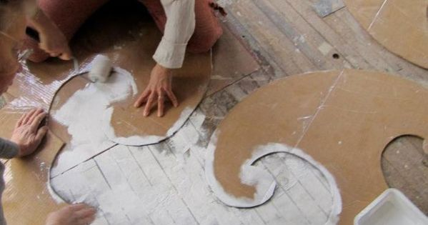 Stenciling the floor: Chairloom, dramatic floor stencils, i could do a white