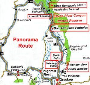 Panorama Route Sudafrika Reisen Sudafrika Karte Sudafrika