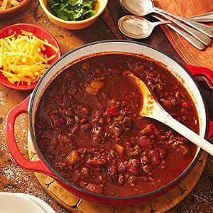 Colossal Chili Recipe Chili With Stew Meat Chili Recipes Recipes