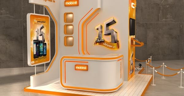 Sungard Exhibition Stand Year : Mobinil years in egypt celebration booth on behance