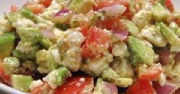 Avocado Feta Salad - Ingredients 2 plum tomatoes, chopped 1 ripe avocado