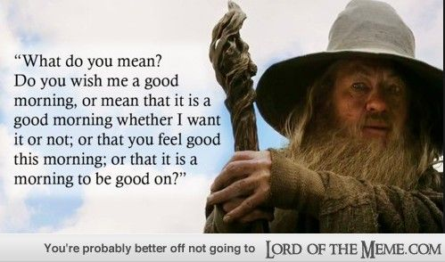 17 Perfect Lord Of The Rings Movie Quotes Lord Of The Rings Memes And Funny Pics Lord Of The Meme Funny Good Morning Memes Lotr Quotes Gandalf Quotes