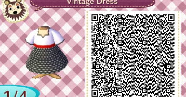 Vintage Dress Qrcrossing Com Animal Crossing Qr Codes Animal Crossing Acnl Qr Codes