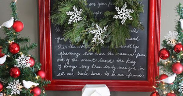 paint on old frame and spray glass with chalkboard paint, then write