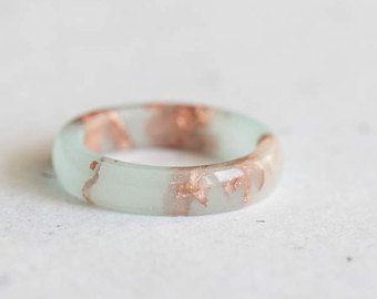 gold pastel ring minimalist pastel rings bridal rings silver pastel ring white resin ring copper pastel ring wedding rings resin ring
