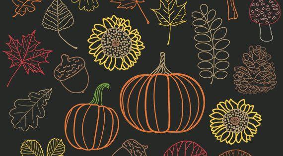 pine cone chalkboard | ... Chalk Pumpkin, Woodland Acorn, Mushroom, Forest Pine