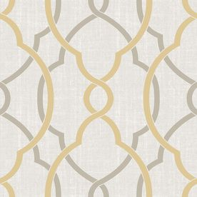 Shop Brewster Wallcovering 30 Sq Ft Yellow Vinyl Geometric Peel And Stick Wallpaper At Lowes Peel And Stick Wallpaper Brewster Wallpaper Brewster Wallcovering