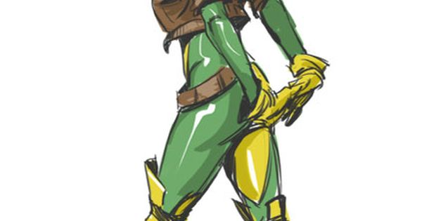 Rogue... I know she is technically not real but she was one