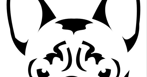 pumpkin carving stencils for dogs  french bulldogs