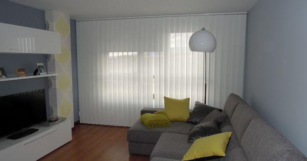 Cortinas verticales blancas cortinas verticales for Cortinas blancas salon