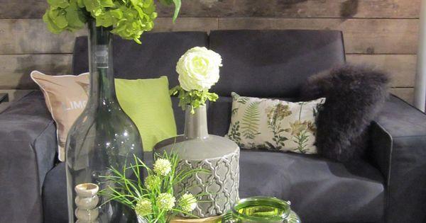 Klok bloemen vaas inspiratie decoratie living home for Decoratie op dressoir